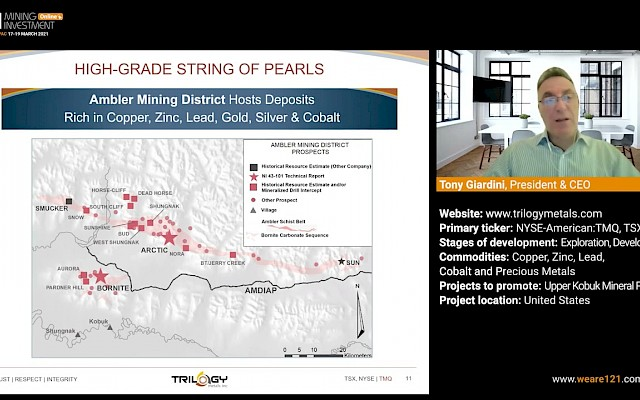 Trilogy Metals presentation at 121 Mining Investment APAC Online