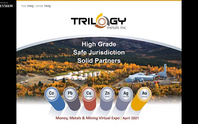 Trilogy Metals presentation at Money, Metals & Mining Virtual Expo by MoneyShow